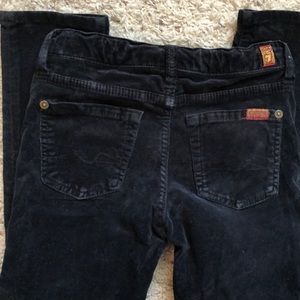7 for all mankind corduroy black pants sz6